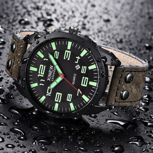 XINEW Watch Men Leather Strap