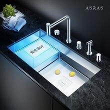 Скрытые крышки для кухонной раковины ручной работы asras 8042j