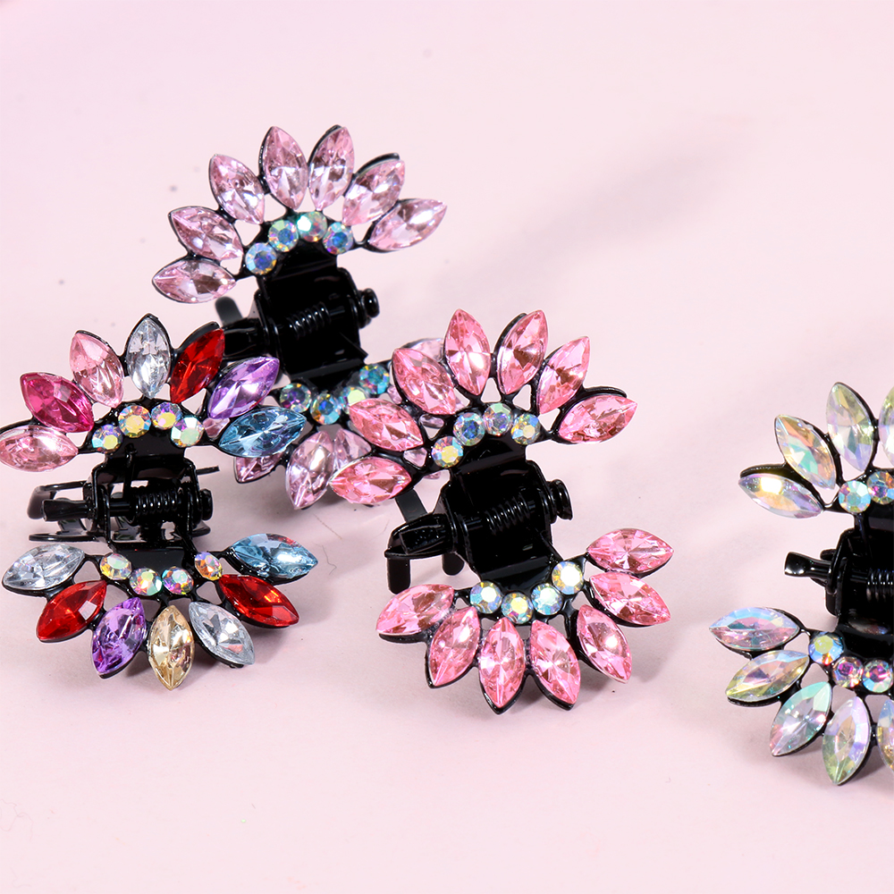Ladies Diamante Bridal Floral Swan Butterfly Hair Claw Clip Costume Jewellery