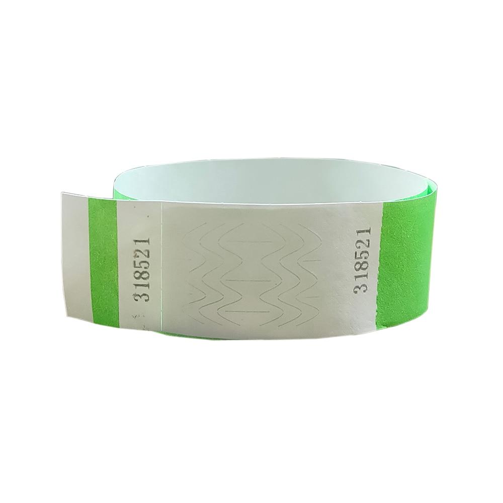 apenas 500 pecas neon verde 1 tyvek pulseiras stub destacavel para id pulseiras de papel para