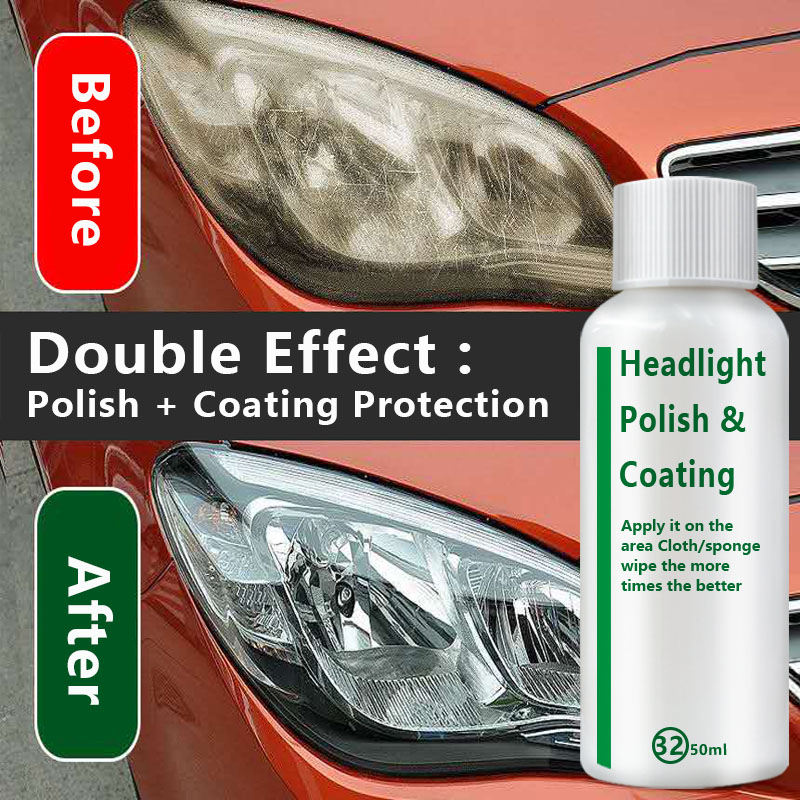 Car Headlight Repair Liquid Lamp Retreading Agent Glitter Auto Polish Len Restoration Car Headlight Restorer Kit