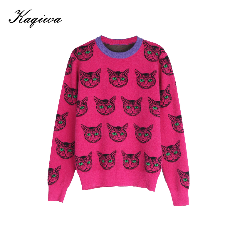 Net Red Sweater Women's 2020 New Autumn And Winter Bottoming Knitwear Korean Fashion Foreign Air Loose Cat Top