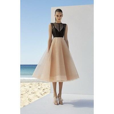 Haute qualité sans manches Robe De soirée robes De soirée 2019 luxe a-ligne bal Robe formelle Robe De soirée Robe De soirée HS-38