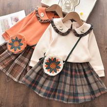 5pcs Baby Girls Dresses Winter Kids Princess Dress Long Slee
