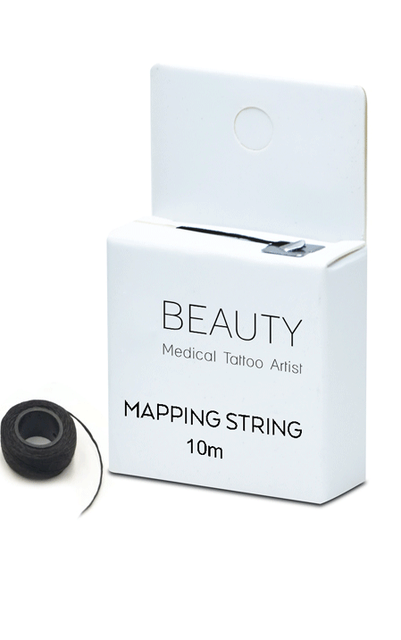 Microblading MAPPING STRING Pre-Inked Eyebrow Marker thread Tattoo Brows On Point 10m Cosmetic Tattooing Artist  Measuring Tool 1