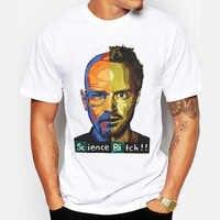 Promotion Breaking Bad Men T Shirts Retro T-Shirt TV Mr White Heisenberg Jessie Pinkman Funny Print Tees Short Sleeve Tops