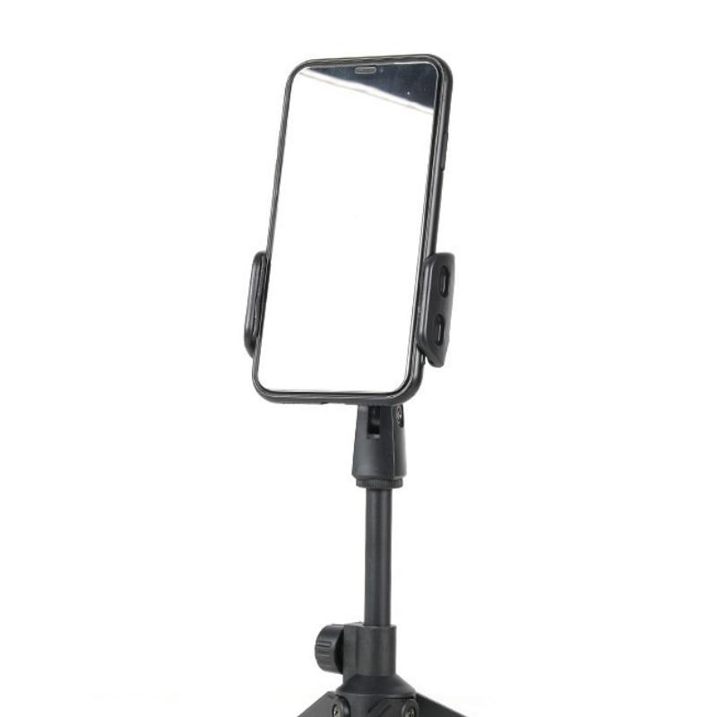 Microphone Stand Desktop Tripod Mini Portable Table Stand Adjustable Mic Stand Mic Clip Holder Bracket Lightweight Bracket 4
