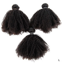 Mongolian Remy Afro Kinky Curly Hair 4B 4C Hair Weave 3/4Pcs 100% Real Human Hair Bundle Natural Color Human Hair Extension(China)