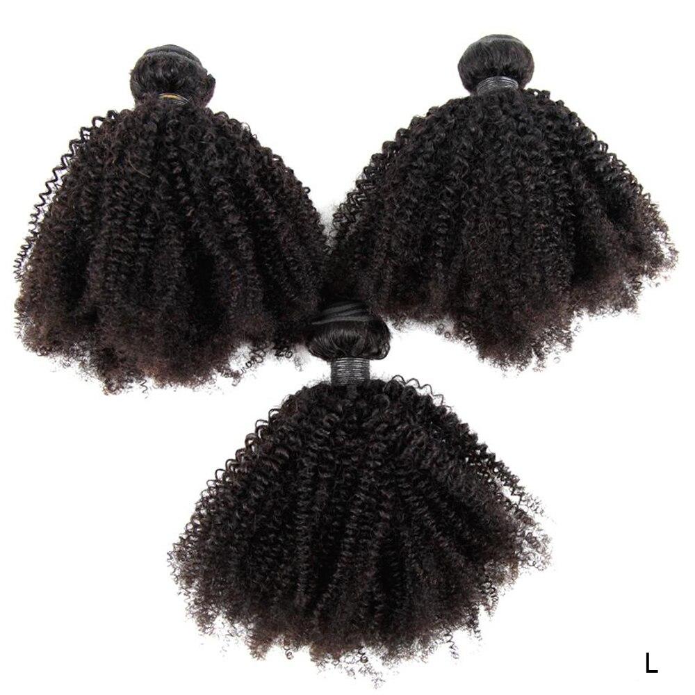 Feixes de Cabelo Extensões de Tecer Indiano Afro Kinky Cabelo Encaracolado Pacotes 4b 4c Humano 3 – 4 Pçs 8-30 Polegada Remy Pode Ser Tingido 150%