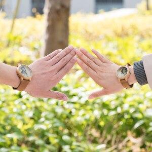 Image 5 - מותאם אישית שעונים אישי תמונה הדפסת מותאם אישית שעון זוג גברים נשים גודל עם עץ אריזת מתנה אנלוגי Relogio Feminino Masculino