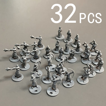 цена на Lot 32PCS 10mm Soldiers Miniatures Board Game Miniatures Role Playing  Nolzur's Marvelous Figure Toys