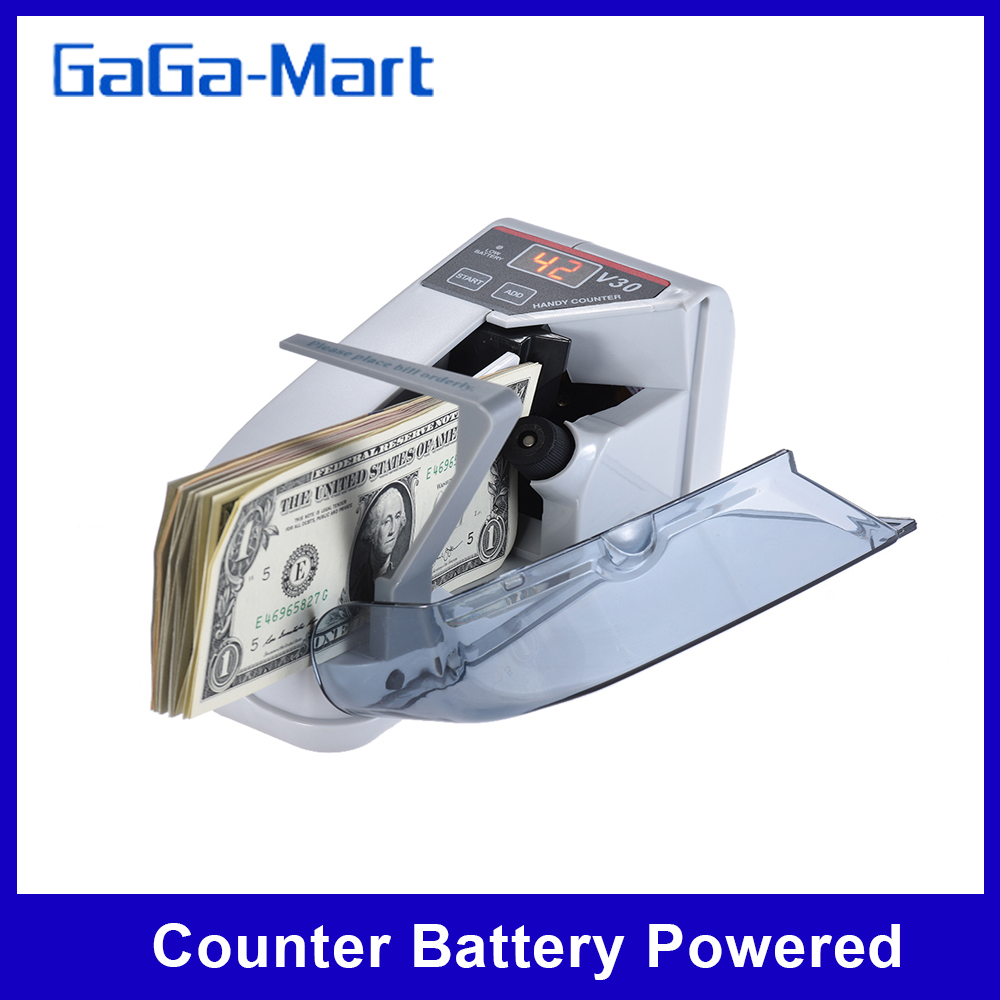 Mini Handy Bill Cash Banknote Counter Money Currency Counting Machine AC or Battery Powered