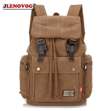 цена на Leather Canvas Laptop Backpack Bags Men/Women 2019 Unisex Backpacks for College Students Large Travel School Rucksacks Back Pack