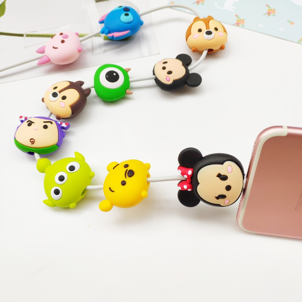 Wholesale Socket Car Phone Holder Cartoon Protector Cable Cord Saver Cover Coque For iPhone 8 Plus 5 5S 5C 6 6S 7 X Xs Max XR-in Phone Holders & Stands from Cellphones & Telecommunications