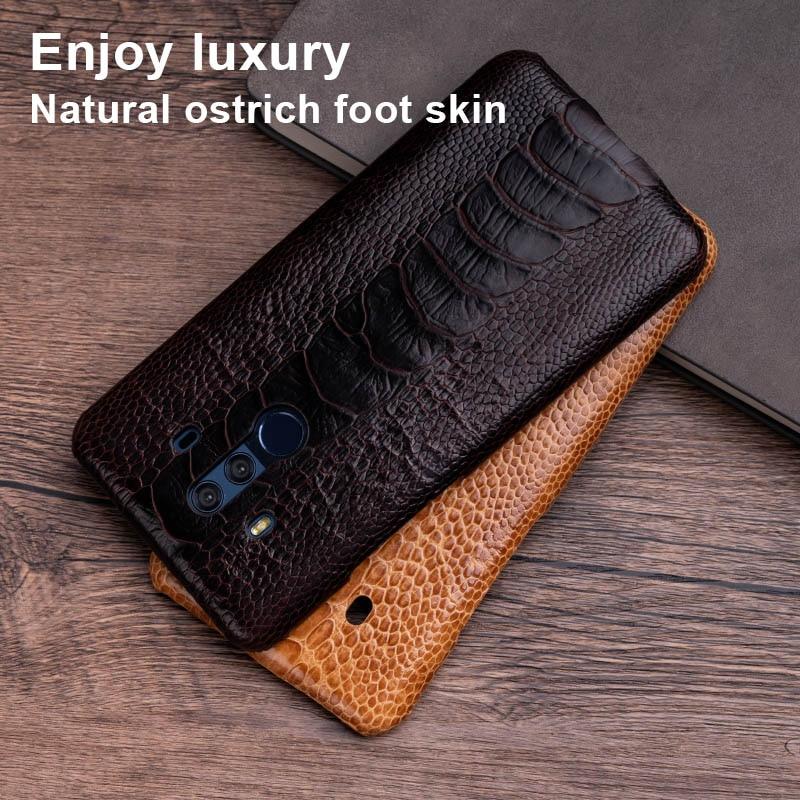 Struisvogel Huid Telefoon Geval Voor Huawei Mate 20 10 9 Pro P10 P20 Lite Soft TPU Edge Cover Voor Honor 8X Max 9 10 Nova 3 3i Capa - 5