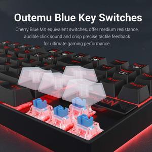 Image 4 - Redragon Teclado mecánico para Gaming K552 KUMARA, 87 teclas, retroiluminado, Rojo