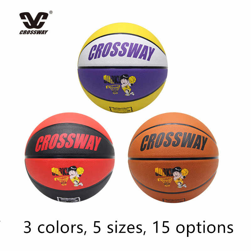 CROSSWAY Standard Basketball Ball #2#3#4#5#6#7 Adult And Child Youth Ball Wear Rubber Training Competition Indoor And Outdoor