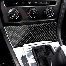 Аксессуары для интерьера из углеродного волокна, наклейки на панели прикуривателя для Volkswagen Golf 7 GTI R GTE GTD MK7 2013-2017
