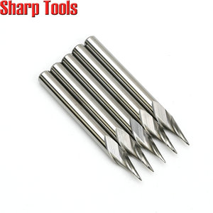 Image 3 - 0.2 0.5mm Tip 3.175*30 Angle V Carving 1 Flute Spiral Carbide Engraving Bits CNC Router Tools Grooving Milling Cutters for Metal