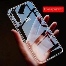 Şeffaf TPU yumuşak silikon kılıf için Xiaomi Mi Pocophone F1 8 SE 6X 5X A1 A2 Lite 5 6 5S artı not 2 Mix 3 2S kılıf kapak Funda