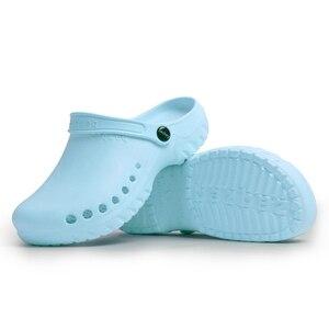 Image 5 - Sandalias quirúrgicas antideslizantes para sala de operaciones, zapatos médicos impermeables, zapatillas de trabajo de especialistas, novedad