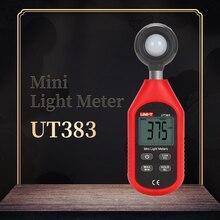 UNI-T UT383 мини-измеритель освещенности, Ручной цифровой светильник, измеритель яркости, светильник, фотометр, экологический тест