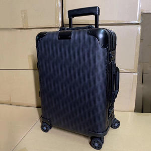 Travel-Suitcase Cabin Luggage On-Wheels Aluminum 20inch Luxury Spinner Brand