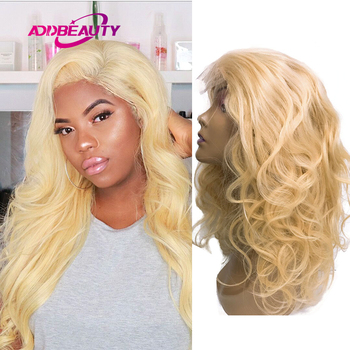 Brazilian 613 Blonde Human Hair Wig 4x4 Lace Closure Body Wave Wigs 13x4 Lace Frontal Customized Wigs for Women Adjust 8-26 Inch image