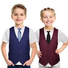 Engraçado festa crianças moda terno gravata 3d impresso camiseta crianças t camisa meninos/meninas dos desenhos animados legal tshirts