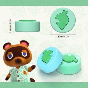 Image 4 - OIVO Animal Crossing Silicone Leaf Joystick Thumb Grip for Nintend Switch/Lite  Joy con 4 PCS Stick Grip Key Case Analog Caps
