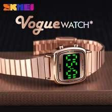 Часы skmei женские цифровые брендовые Модные Роскошные водонепроницаемые