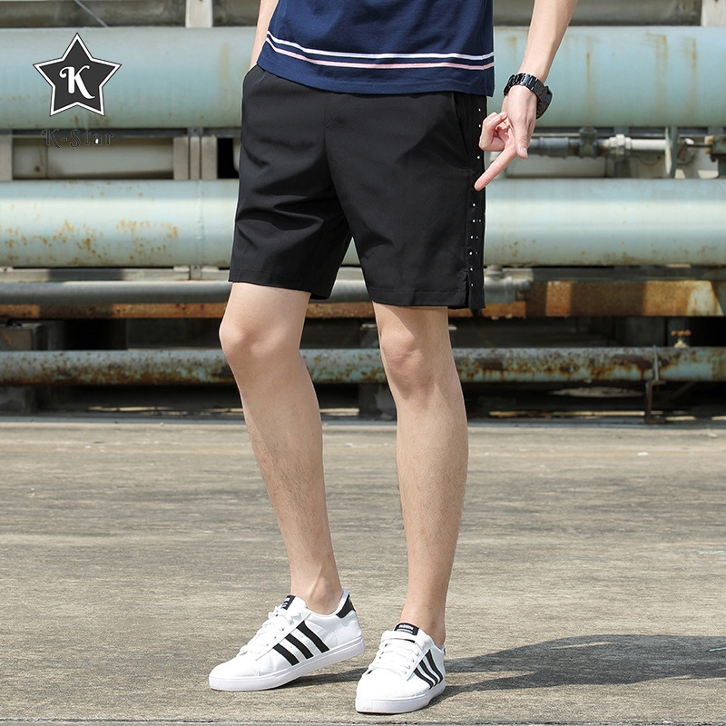 K-Star Shorts Men Fashion Casual Pants Summer Loose Sports Fitness Couple Five Points Pants Large Size Running Shorts