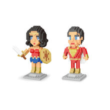 Super heroes bausteine Justice League figuren micro diamant block dc Flash-shazam Wonder Frau Captain Marvel nanobricks spielzeug(China)