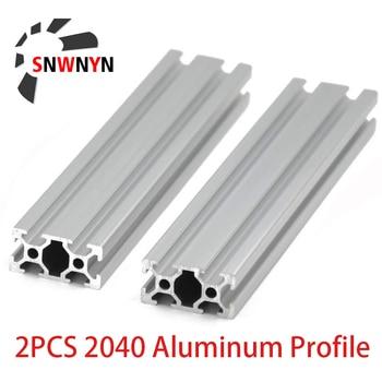 2PCS 2040 Aluminum Extrusion Profile Length 100mm-1200mm European Standard Anodized For CNC 3D Printer Parts CZ RU US Shipping european standard carbon steel l type connection plate for 4040 aluminum extrusion profile pack of 10