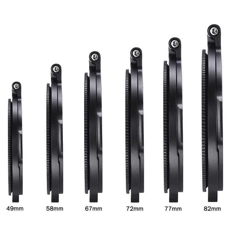 NDกรองสวิทช์แหวนวงเล็บDSLRเลนส์Mount 49 มม.58 มม.67 มม.72 มม.77 มม.82 มม.67 72 77 82Mmตัวกรองอะแดปเตอร์แหวน