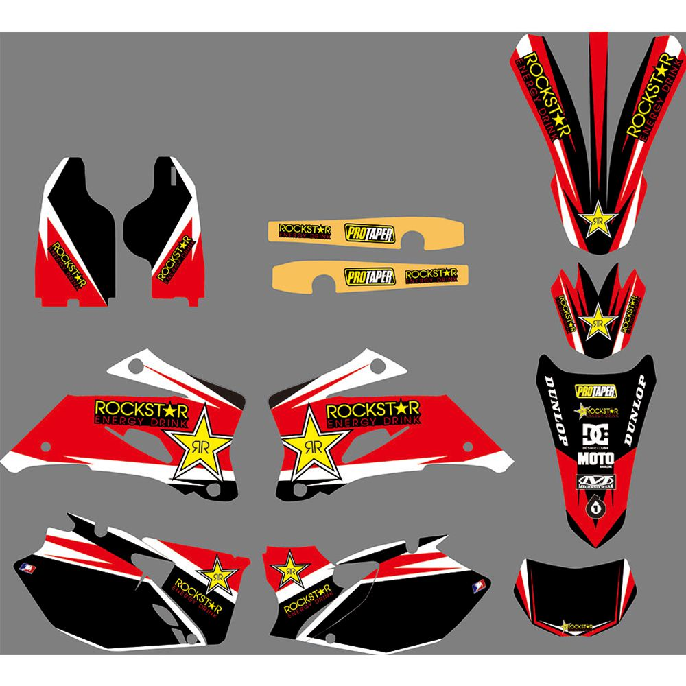Full Graphics Decals <font><b>Stickers</b></font> Motorcycle Background Custom 3M For <font><b>YAMAHA</b></font> WR250F WRF 250 2007-2013 <font><b>WR450F</b></font> WRF 450 2007-2011 image