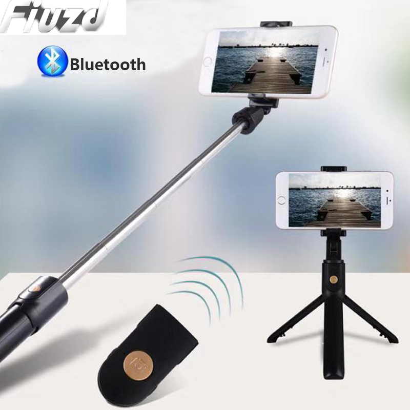 Mobile Phone Holder Tripod With Remote Self-Timer Artifact Rod For Phones G0pro For Iphone 11 Pro Max SE XS XR X 5S 6S 7 8 Plus