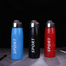 750/1000ML Sport Thermos Water Bottle Thermo Mug Stainless Steel Vacuum Flask With Straw Insulation Cup Outdoor Thermoses Bottle