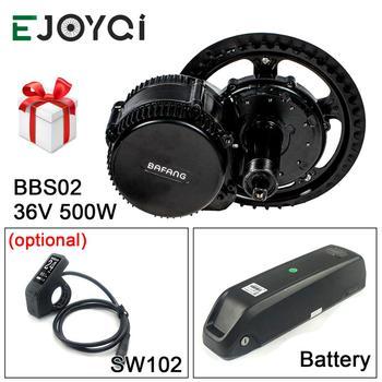 Bafang 8FUN 36V 500W MMG340 36V 13Ah Li ion Battery BBS02 Light SW102 DPC18 Ebike Mid Drive Motor Conversion Kit|Electric Bicycle Motor|   -