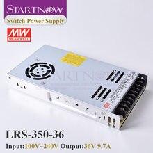 Startnow-Interruptor de LRS-350-36 para controlador láser, fuente de alimentación conmutada, Original MW, Taiwán Meanwell, 24V, 36V, 48V, 350W
