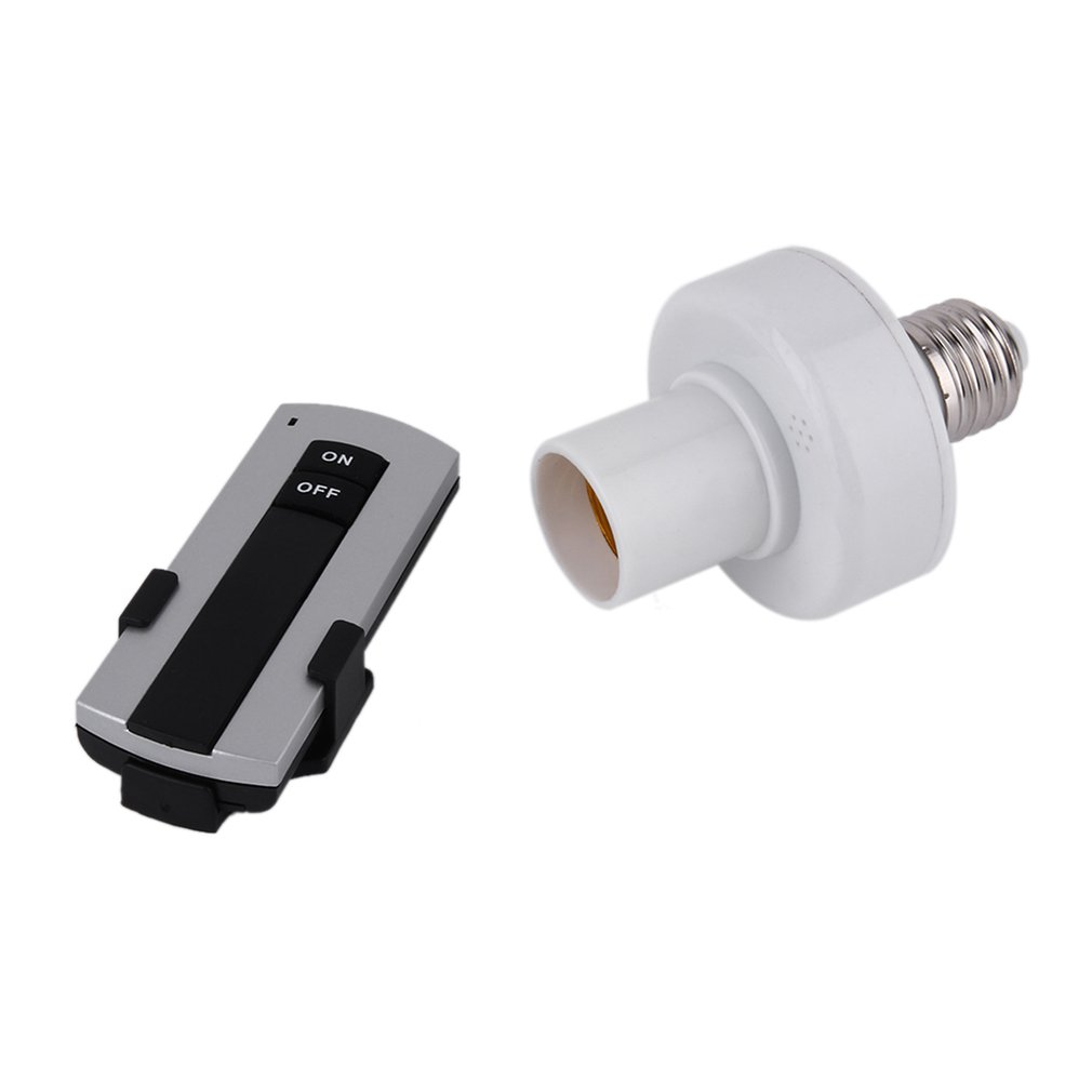 ICOCO Professional E27 Screw Wireless Remote Control Light Lamp Bulb Holder Bases Cap Socket Switch Lamp Accessories On Off 220V