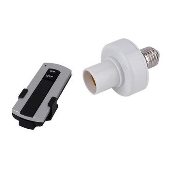 ICOCO Professional E27 Screw Wireless Remote Control Light Lamp Bulb Holder Bases Cap Socket Switch Lamp Accessories On Off 220V new ac 220v 1 ch channels manual on off wireless remote control switch lamp light switch