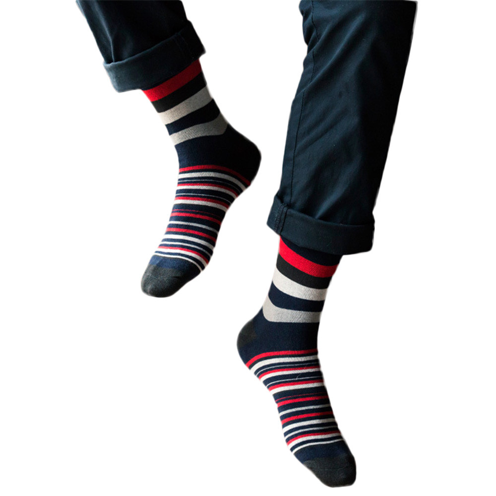 Men's colorful Autumn striped Socks Men's Funny Autumn Popsocket For Men's Socks Sneskers InTube Casual Cotton Meias #BL2