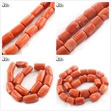 """Бесплатная доставка 100% настоящая свободная колонна оранжевого кораллового цвета для изготовления ювелирных изделий из натуральных бусин нитка 15"""""""