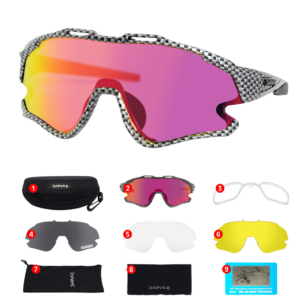 Cycling Sunglasses Professional Polarized Cycling Glasses MTB Road Bike Sport Sunglasses Bike Eyewear UV400 Bicycle Goggles 22