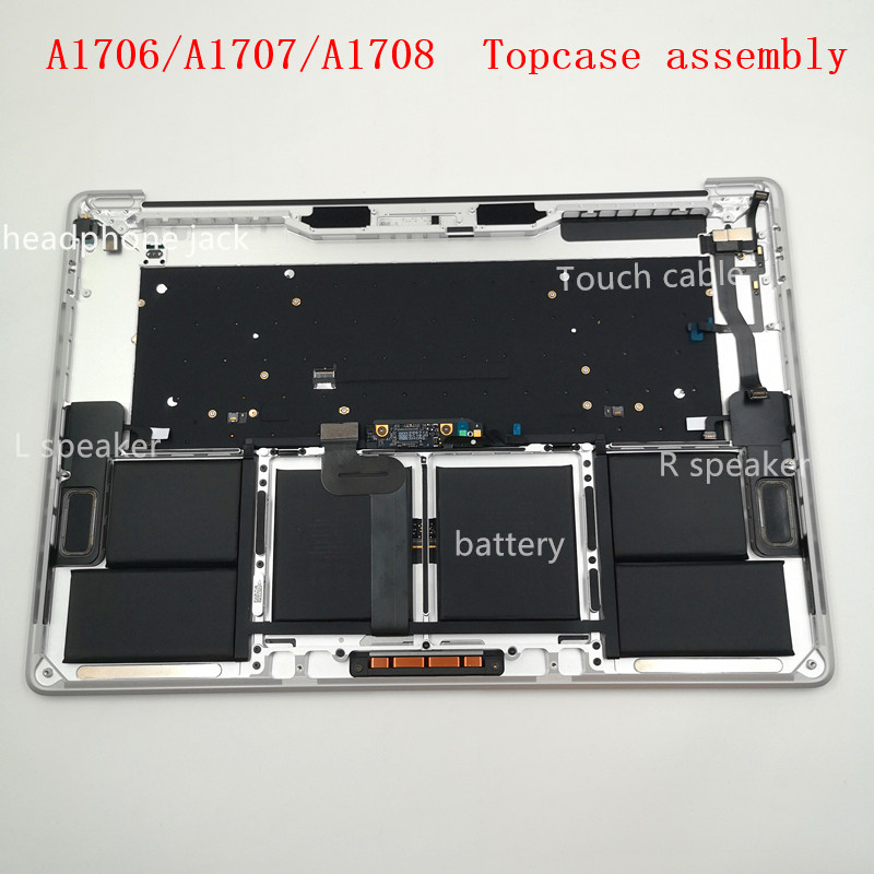 Grade A US Keyboard Topcase Battery A1819 Touch Bar for Macbook Pro A1706 2016