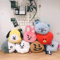 Juguetes de Peluche coreanos k-pop, almohada de Peluche de animales, corazón de celebridades, perro y Koala, caballo, oveja, conejo, muñeco de Peluche, regalo de Navidad para seguidores