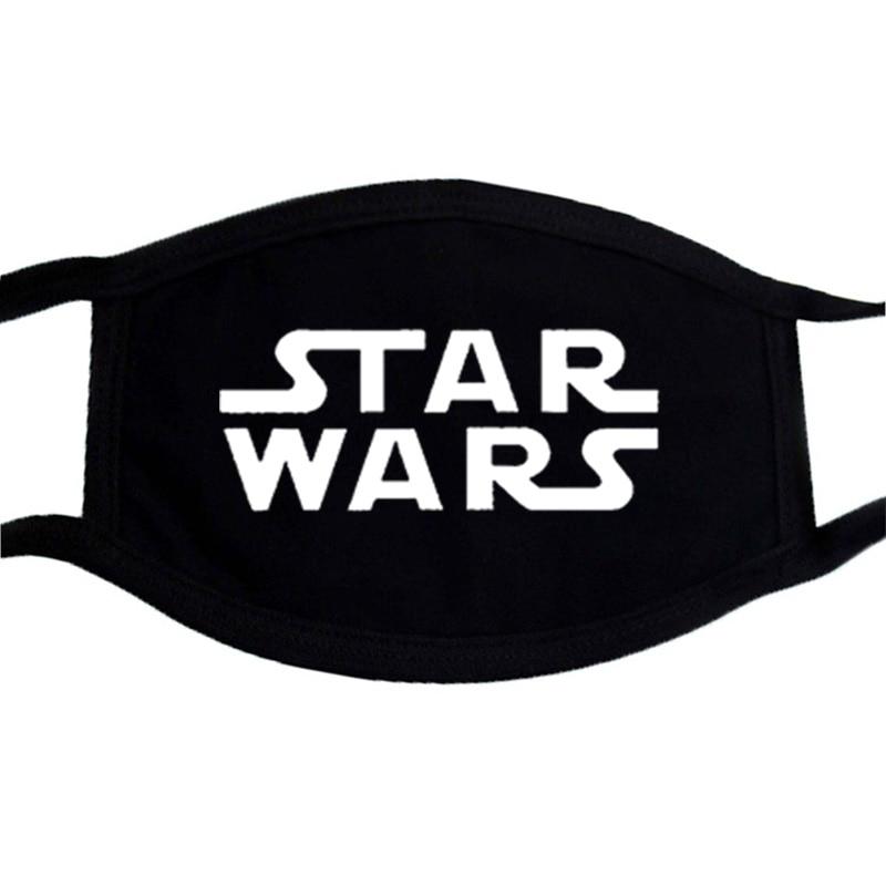 Star Wars Cartoon Cute Baby Yoda Masks Black Casual Half Face Mouth Muffle Dustproof Masks Anti-dust Cotton Warm Unisex Mask