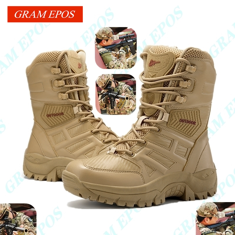 New <font><b>Winter</b></font> Autumn <font><b>Men</b></font> Military Boots Quality Special Force Tactical Desert Combat Ankle Boats Army Work <font><b>Shoes</b></font> Leather Snow Boots image