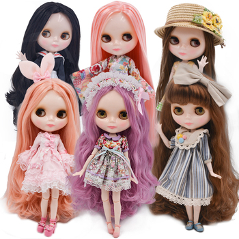 Neo Blyth Doll Customized NBL Shiny Face,1/6 OB24 BJD Ball Jointed Doll Custom Blyth Dolls for Girl, Gift for Collection [wamami] for 12 neo blyth doll 7 joints purple short wig matte face